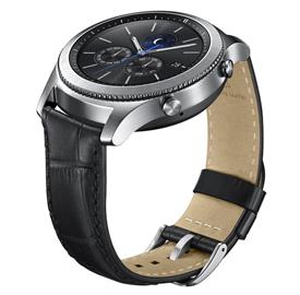 Samsung ET-YSA76MBEG Leather Strap Gear S3, Black
