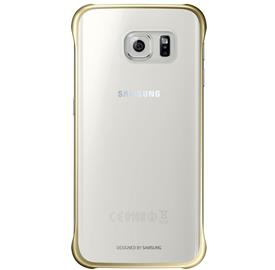 Samsung EF-QG925BF Clear zadní kryt S6 Edge, Gold
