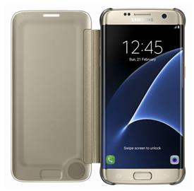 Samsung EF-ZG935CF Flip ClearView Galaxy S7e, Gold
