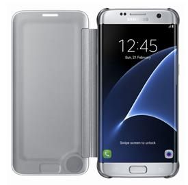 Samsung EF-ZG935CS FlipClearView Galaxy S7e,Silver