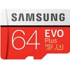 Samsung 64GB microSDHC EVO Plus + SD adaptér